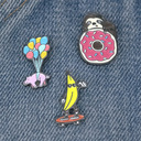When Pigs Fly - Pig Enamel Pin Pink and Blue in Rainbow