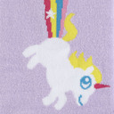 fabric detail of Rainbow Blast - Unicorn Knee High Socks - Women's