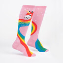 Rainbow Mane - Unicorn Power Color Knee High Socks Pink - Women's in Pink