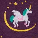 fabric detail of Wish upon a Pegasus - Flying Unicorn Pegasus Knee High Socks Purple - Junior's