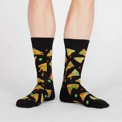 model wearing Nacho, Nacho Man - Nacho Crew Socks Black - Men's