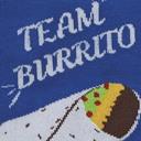 fabric detail of Team Burrito Pride Crew Socks Blue - Men's