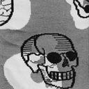 fabric detail of Head Over Heel - Human Anatomy Crew Socks Grey - Men's