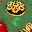 fabric detail of Getting Jiggly with It - Gelatin Dessert Christmas Holiday Dinner Crew Socks Green - Men's