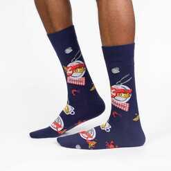 Get Crackin'! - Shellfish Clambake Crew Socks Navy - Men's in Navy