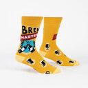 Brew Master - Beer Lover Crew Socks Yellow - Men's in Yellow