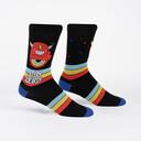 Stay Weird - Crazy Monster Crew Socks Black - Men's in Black