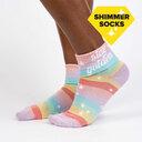 Stay Golden - Shimmer Statement Turn Cuff Socks Rainbow - Women's in Rainbow
