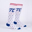 American Pi - Collegiate Math Knee High Socks White - Unisex in White