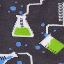 fabric detail of Laboratory Crew Socks - Glow In The Dark - Youth