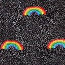 fabric detail of Glitter Over the Rainbow - Sparkling Shimmer Rainbow Beam Crew Socks Black - Youth