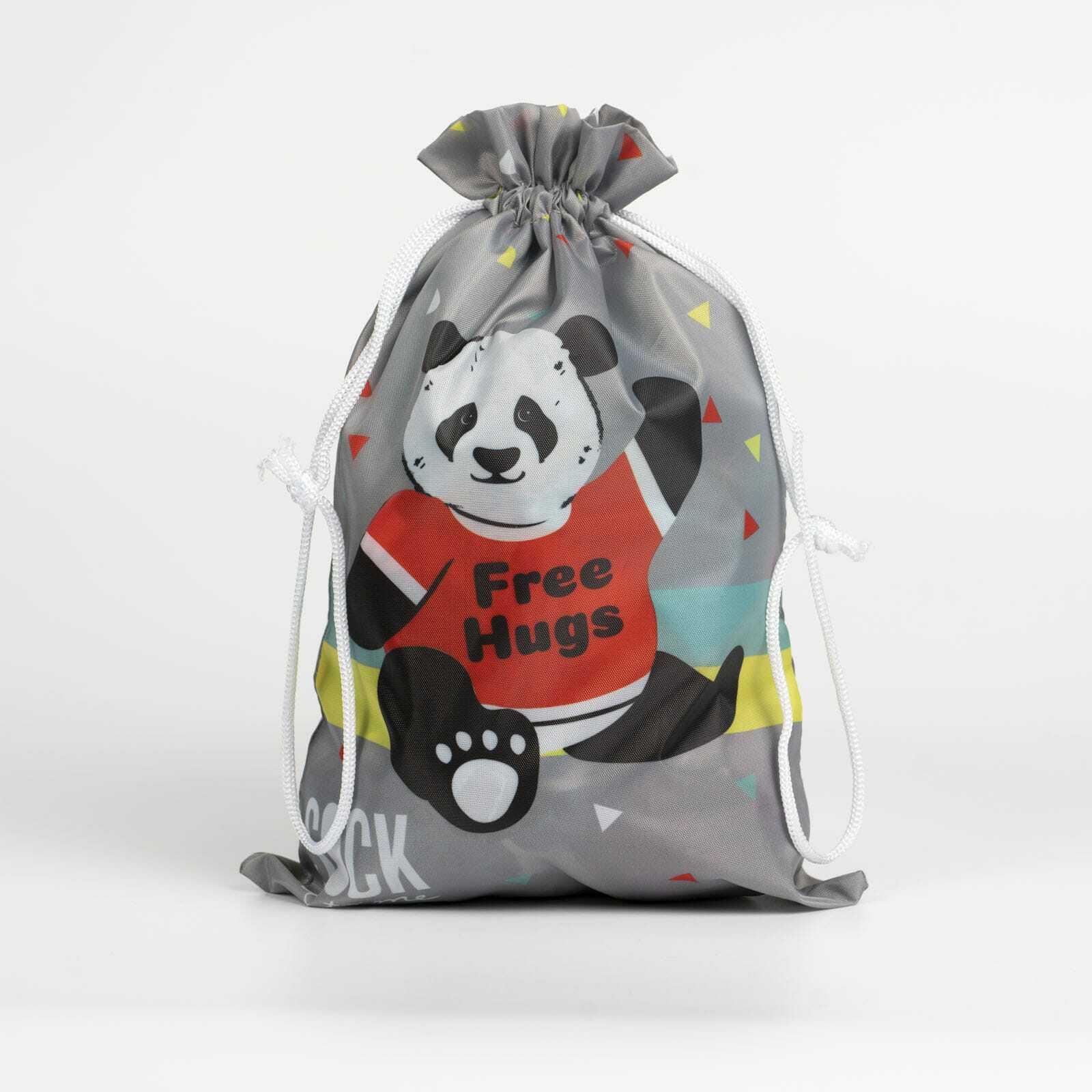 Panda Bear Hug - Cute Animal Grey Gift Bag - Sock It to Me in Grey