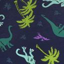 fabric detail of Land of The Dino - Dinosaur Bikini Underwear Blue - Sizes XS-XL