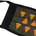fabric detail of Slice of Life - Pepperoni Pizza Face Masks Black - Unisex