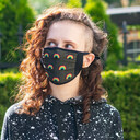The Rainbow Collection - Multicolor Face Masks Rainbow - Unisex in Black