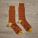 Luxe Bicycles Men's Dress Socks | Size: 7-13 | Orange in Orange