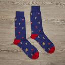 Luxe Make It A Combo Men's Dress Socks   Size: 7-13   Black in Red