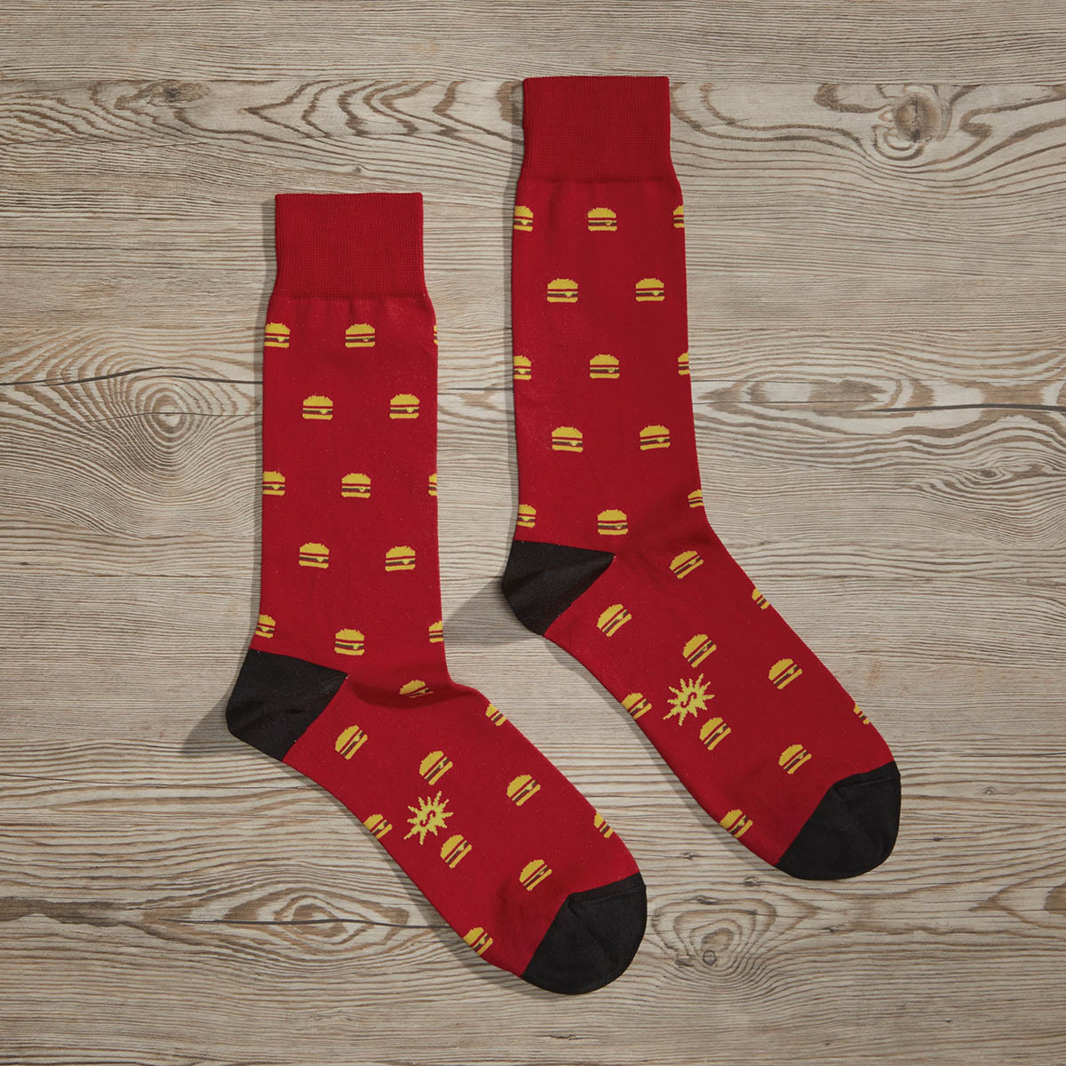 Luxe Royale with Cheese Men's Dress Socks | Size: 7-13 | Red in Turquoise