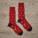 Luxe Royale with Cheese Men's Dress Socks   Size: 7-13   Red in Turquoise