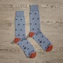 Luxe Sky Captain Men's Dress Socks | Size: 7-13 | Purple in Yellow