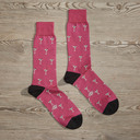 Luxe Stirred Not Shaken Men's Dress Socks | Size: 7-13 | Green in Pink