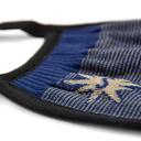 fabric detail of Indigo Blue - Solid Color Face Masks Blue - Unisex