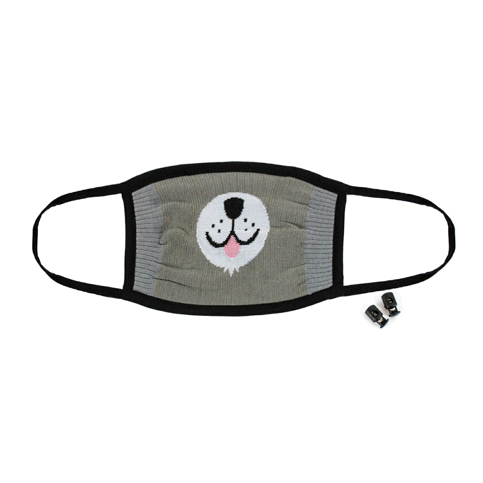 Furry Sidekick - Cute Animal Face Masks Grey - Unisex in Grey