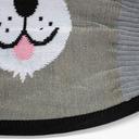 fabric detail of Furry Sidekick - Cute Animal Face Masks Grey - Unisex