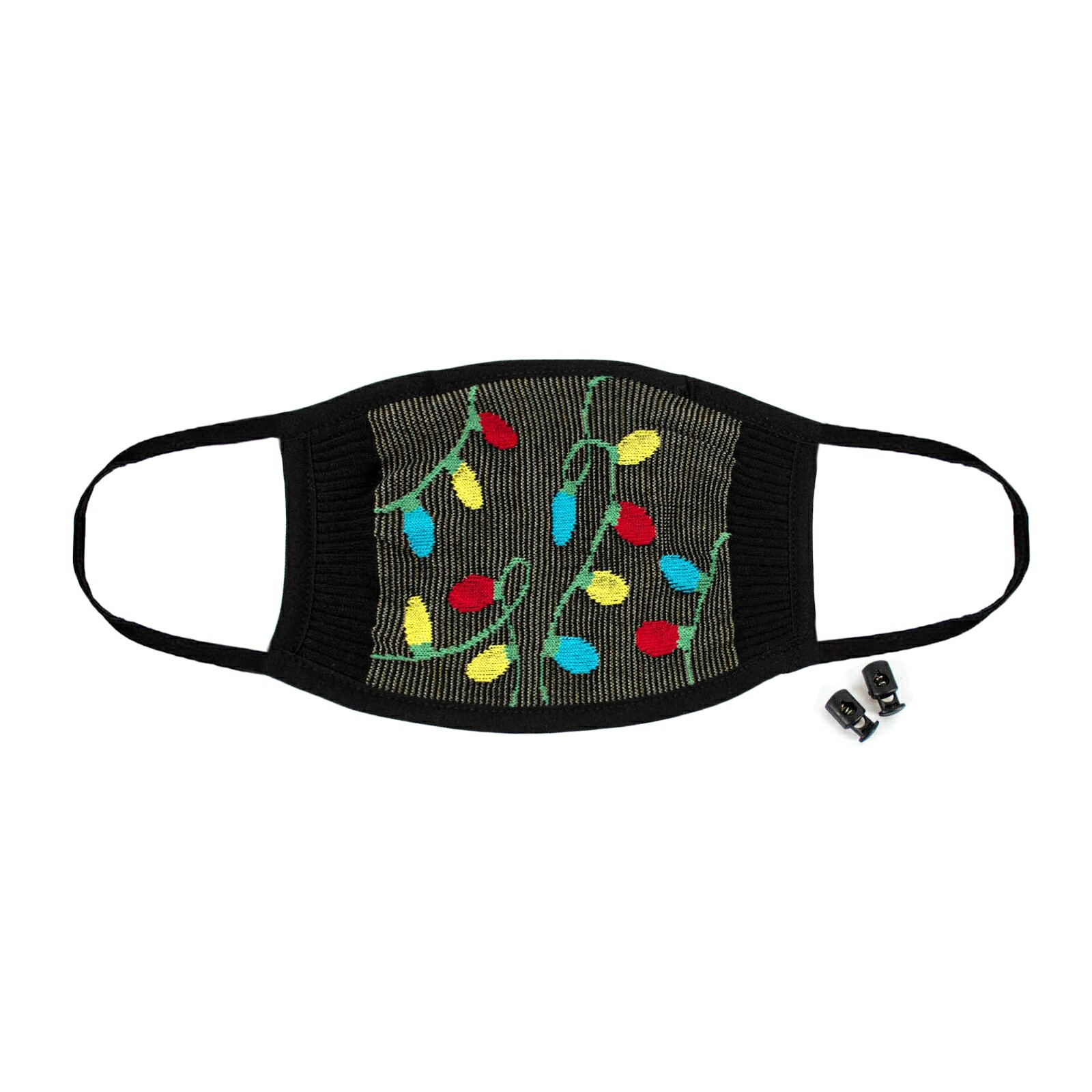 Tangled Lights - Christmas Holiday Face Masks - Unisex in Black