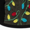 fabric detail of Tangled Lights - Christmas Holiday Face Masks - Unisex