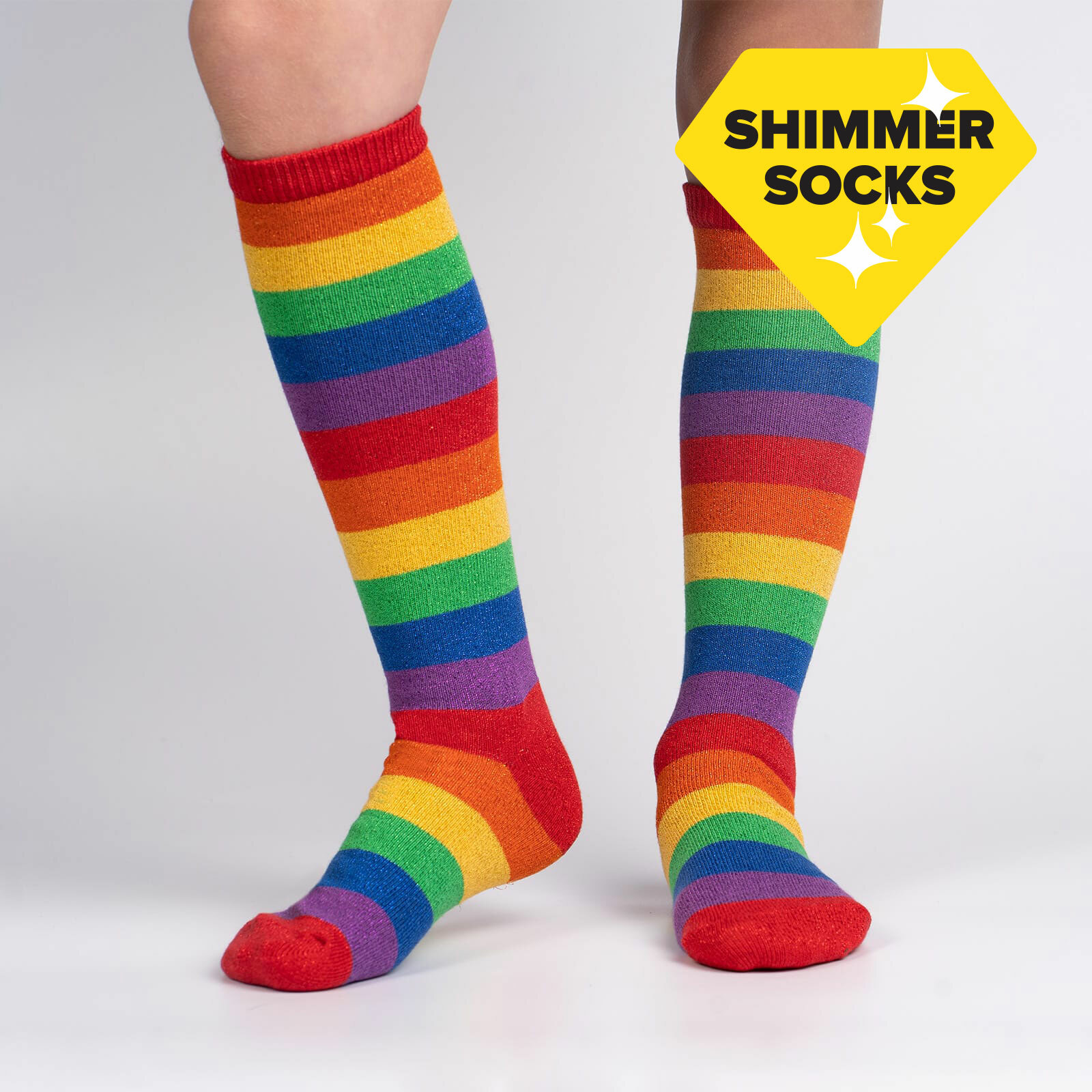 model wearing March with Pride Youth Knee Socks