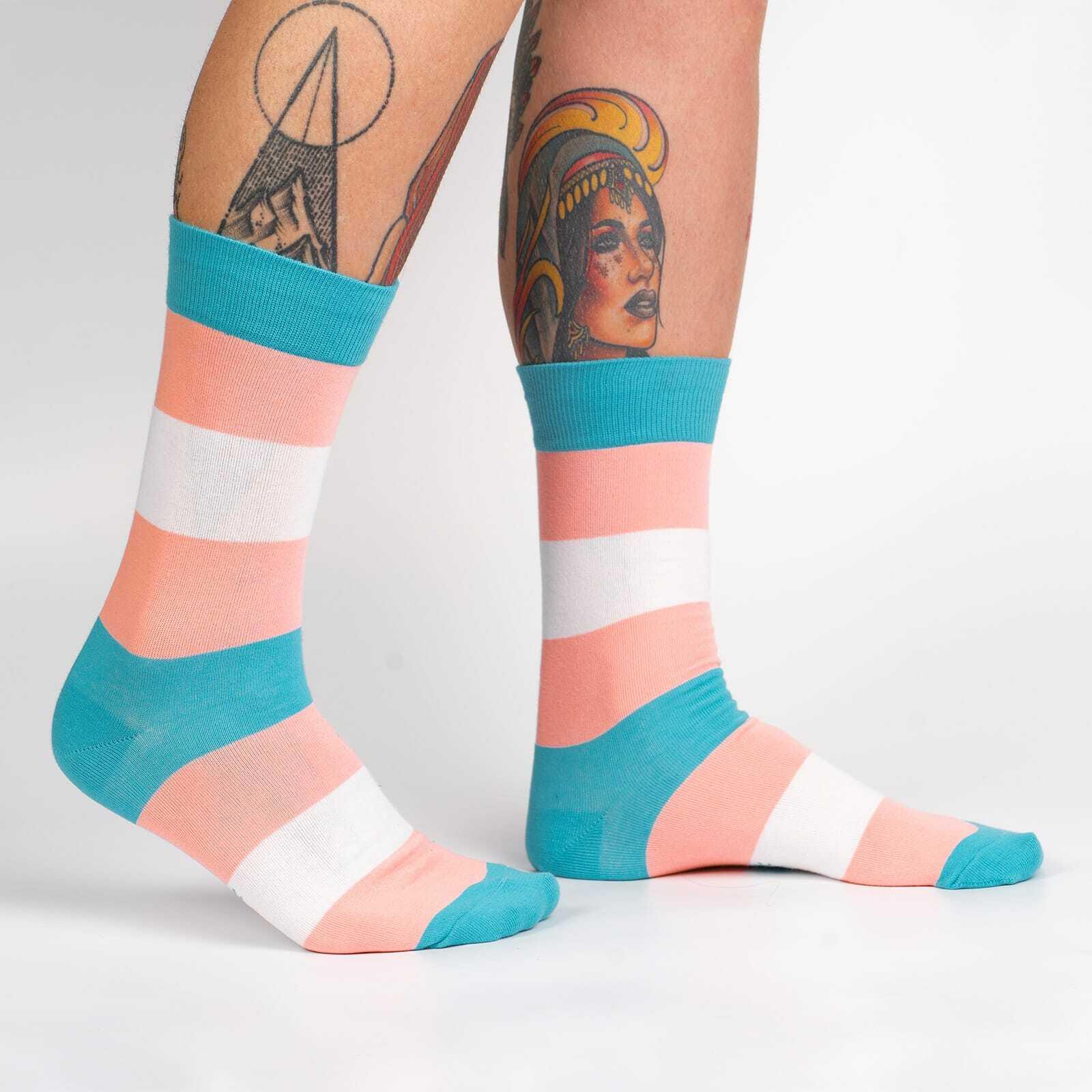Trans Pride Unisex Crew Socks - M/L