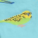 fabric detail of Pretty Birds - Adorable Animal Knee Socks - Women's