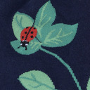fabric detail of Luck be a Lady Bug - Nature Insect Knee Socks - Women's