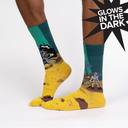 Skeleton Crew - Spooky Pirate Ocean Crew Socks Yellow - Men's in Yellow