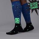 model side view of Nightlight - Firefly Nature Knee Socks - Unisex
