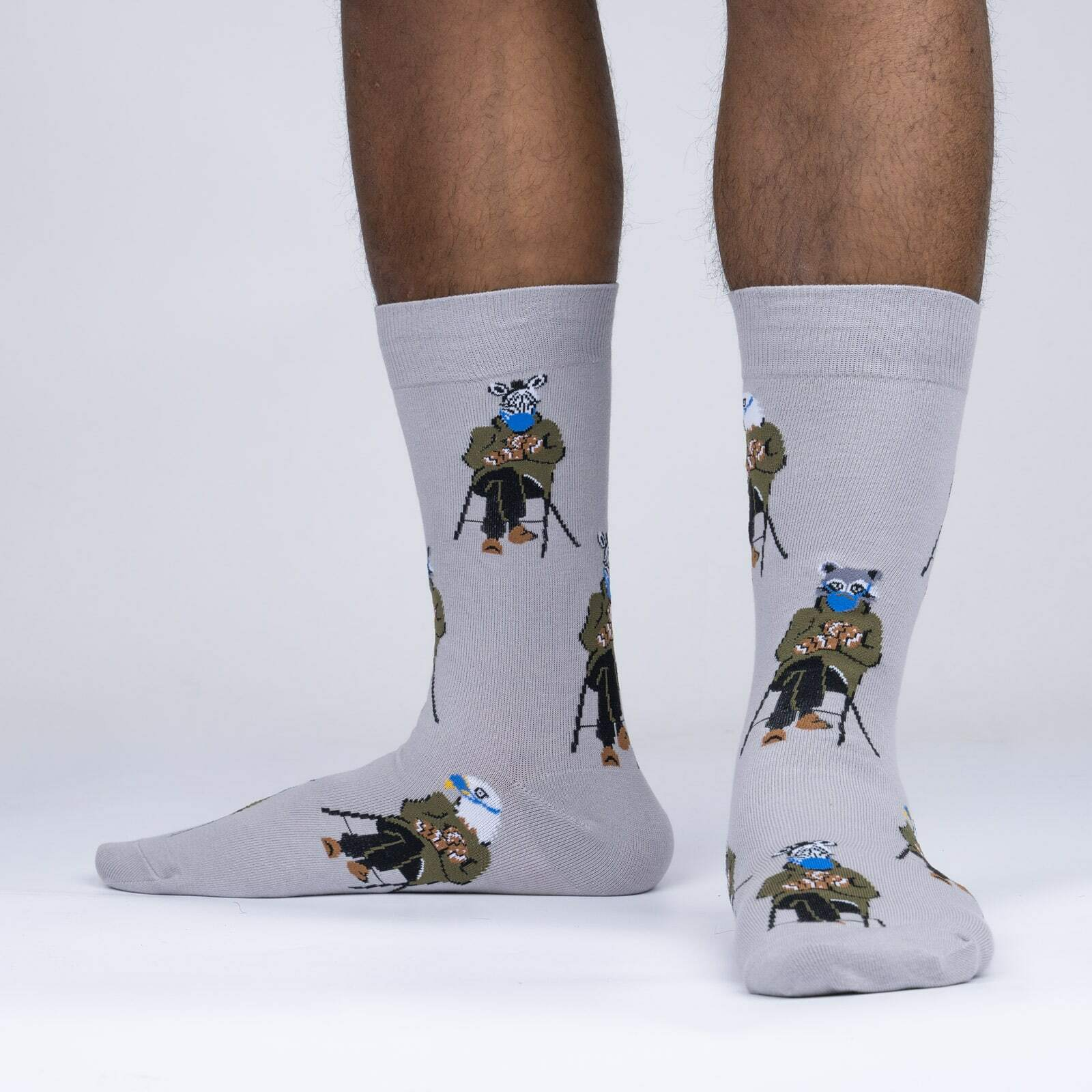 model side view of Made in Vermont - Bernie Sanders Socks - Men's