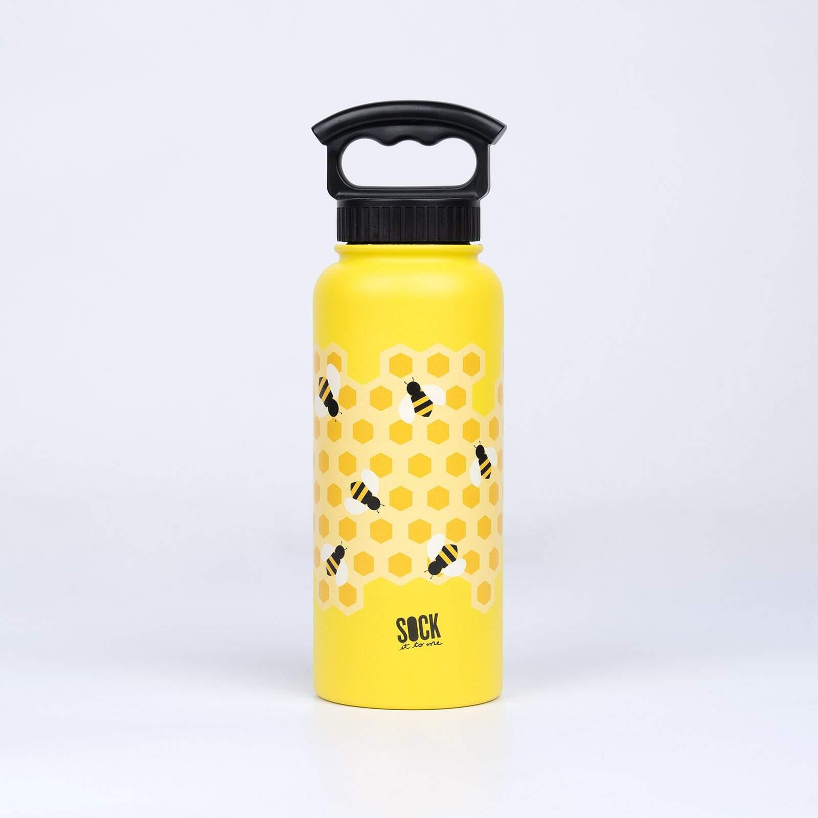 Bee's Knees - Yellow Water Bottle - Unisex in Yellow