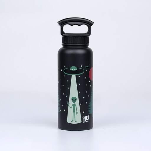 I Believe - Alien Water Bottle - Unisex in Black