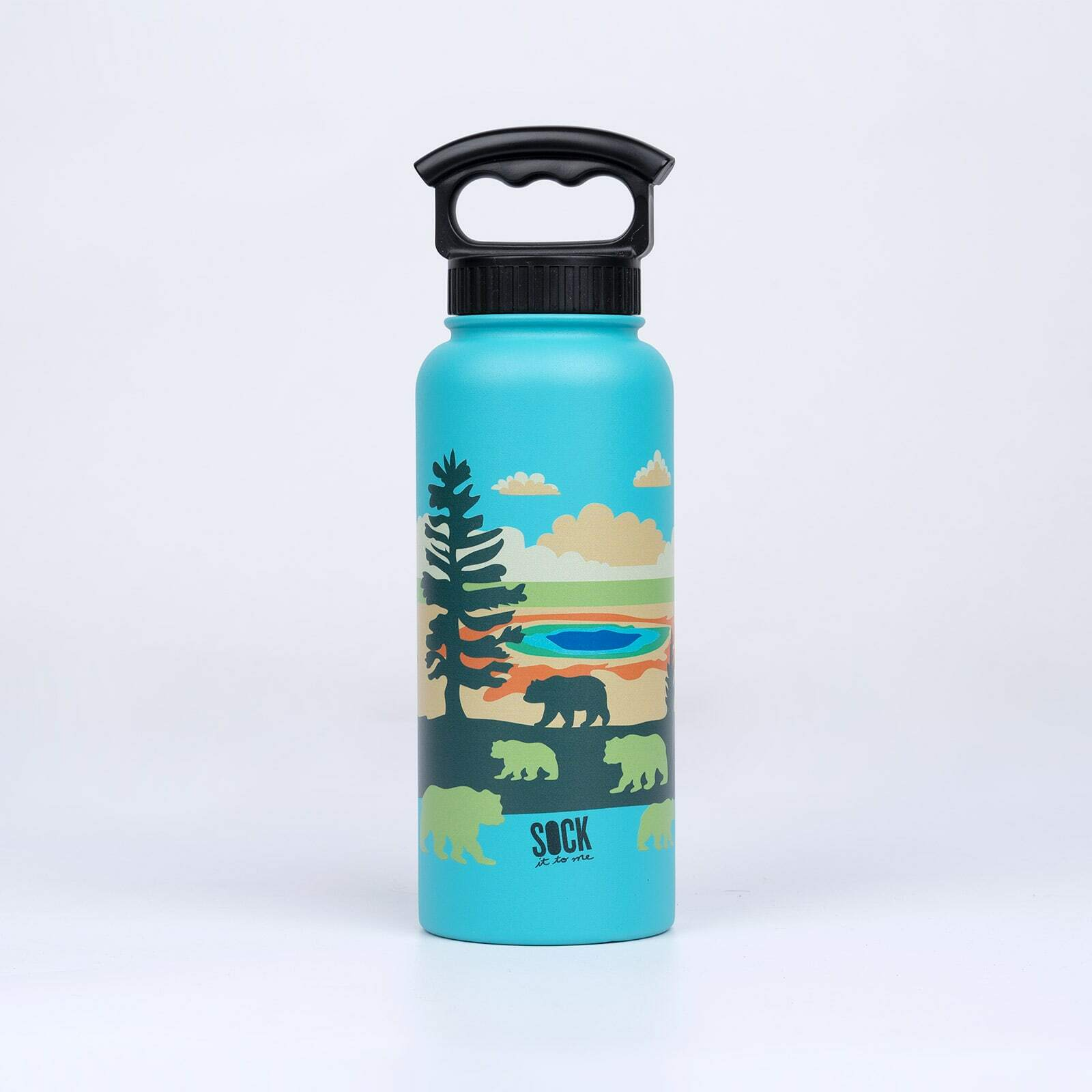 Grand Prismatic - National Park Water Bottle - Unisex in Light Blue