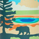 fabric detail of Grand Prismatic - National Park Water Bottle - Unisex