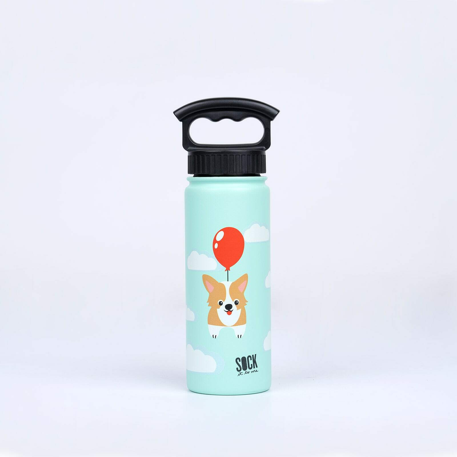 Pup, Pup and Away - Dog Water Bottle - Unisex in Blue