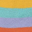 fabric detail of Happy Toes - Fuzzy Rainbow Stripe Slipper Socks - Women's