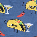 fabric detail of Taco Tuesday - Funny Food Crew Socks - Men's