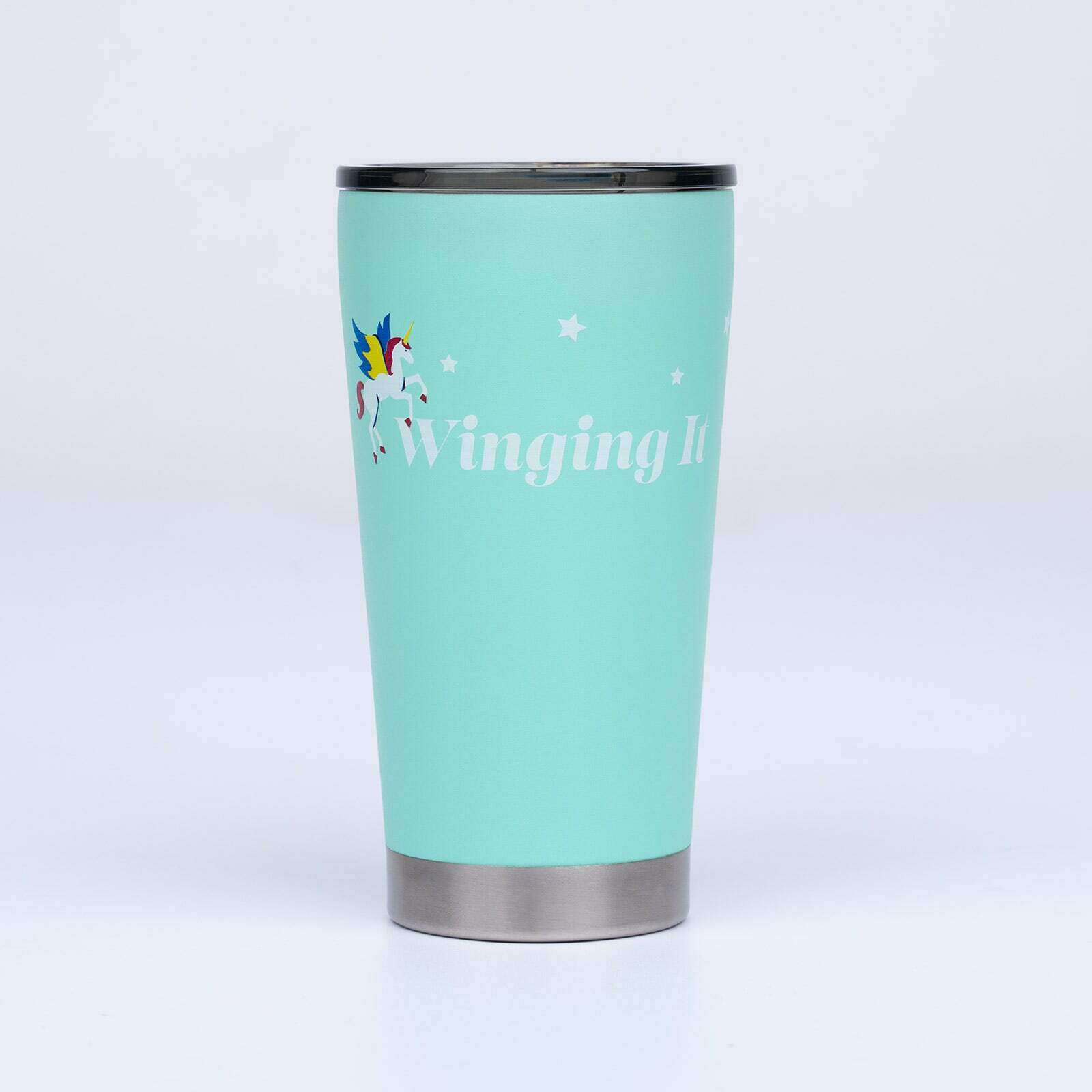 Winging It - Unicorn Coffee Tumbler - Unisexd in Blue