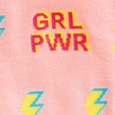 fabric detail of STRETCH-IT™ GRL PWR - Wide Calf - Girl Power Lightning Knee High Socks Pink - Unisex