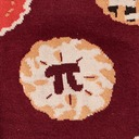 fabric detail of Easy as Pi - Mathematical Constant and Pies Pi Day Crew Socks Burgundy - Men's