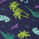 fabric detail of Land of the Dino - Dinosaur Boxer Brief Underwear Blue - Men's Sizes S-XL