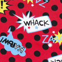 fabric detail of Blamo! - Comic Book Boxer Brief Underwear Red - Men's Sizes S-XL