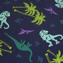 fabric detail of Land of The Dino - Dinosaur Hipster Underwear Blue - Sizes XS-3XL
